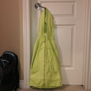 Lime green Lululemon sweatshirt